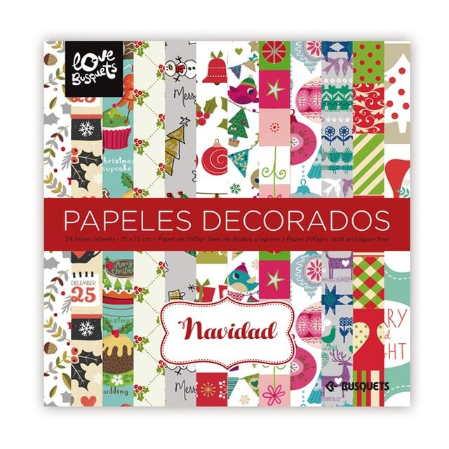Papel decorado 15x15cm 24un -Ref.1110158527-