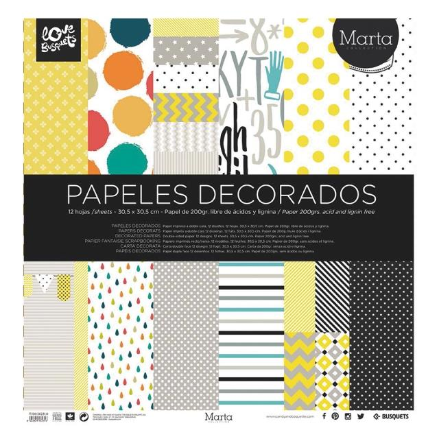 Papel decorado doble cara 12u -Ref.1110956231-