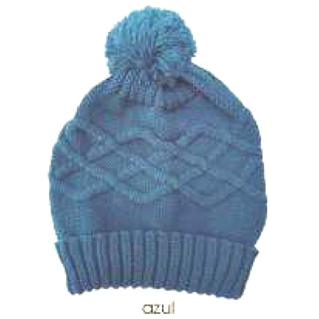 Gorro inf. rombos c/bola -Ref.S675 Col.surtido-