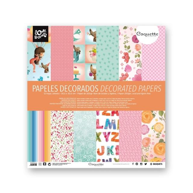 Papel decorado doble cara 12un -Ref.1110961709-