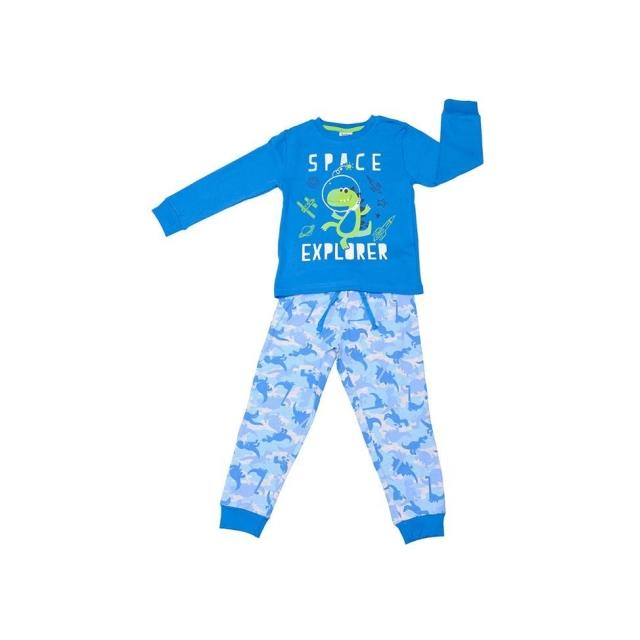 Pijama niño interlock Dino -Ref.19287005 Col.royal-