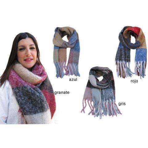 sitio de buena reputación recoger grandes ofertas en moda Bufanda manta de cuadros fleco -Ref.B286 Col.SURTIDO-